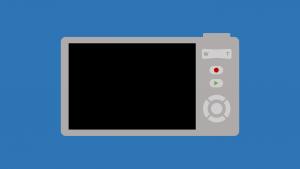 Digital render of a digital camera built in PowerPoint