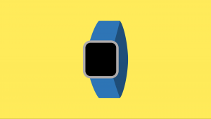 Digital render of a smart watch