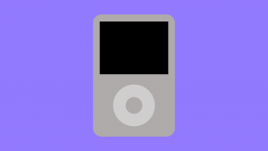 Digital render of a classic iPod built in PowerPoint