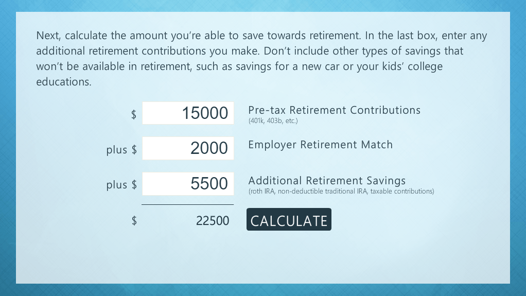 Interactive Retirement Calculator