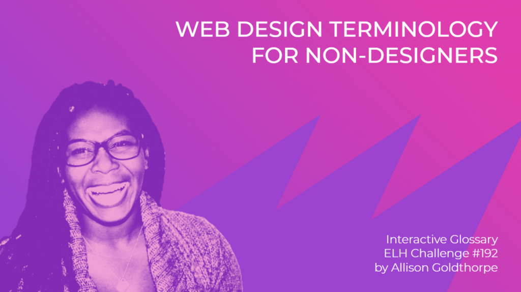 """Web Design Terminology for Non-Designers"" Interactive Glossary Title"